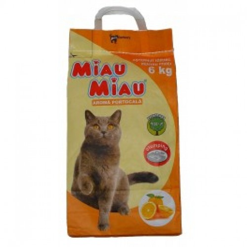 Asternut igienic cu portocala Miau Miau 6 kg 1